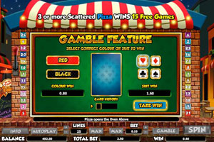 Screenshot of Gamble Feature